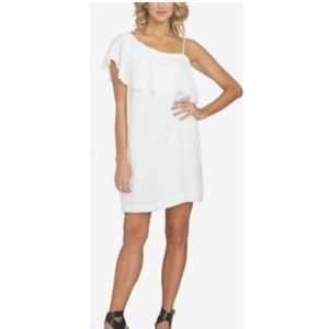 1.state ruffle one shoulder dress